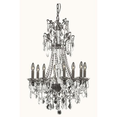 Johnsie 8-Light Crystal Chandelier Finish: Pewter