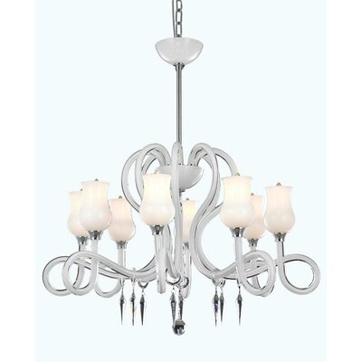 Adelene 8-Light Shaded Chandelier