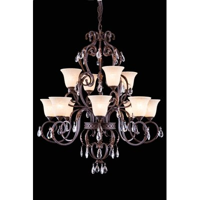 Buechler 12-Light Shaded Chandelier