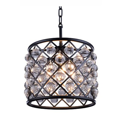 Morion 3-Light Drum Pendant Finish: Polished Nickel
