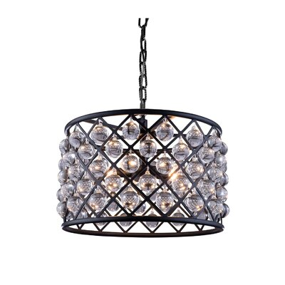 Morion 6-Light Drum Pendant Finish: Mocha Brown
