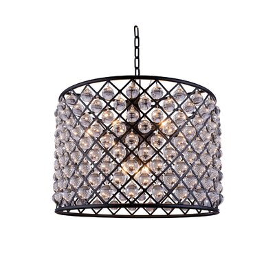 Morion Modern 8-Light Drum Pendant Finish: Polished Nickel