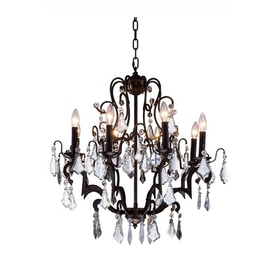 Aurea 8-Light Chain Crystal Chandelier