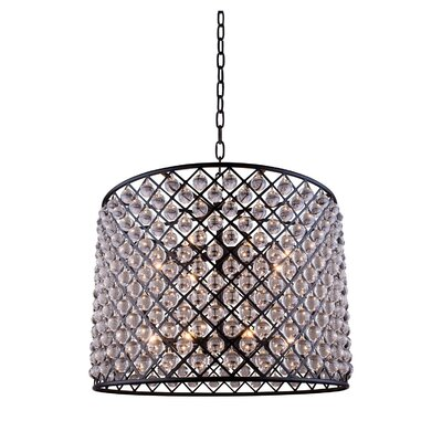 Madison 12-Light Drum Pendant Finish: Mocha Brown