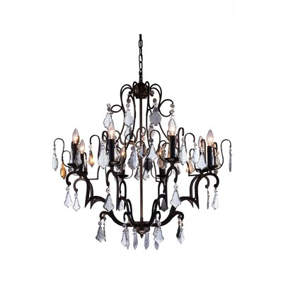 Aurea Traditional 8-Light Crystal Chandelier