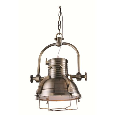Dobbins 1-Light Mini Pendant Finish: Antique Brass
