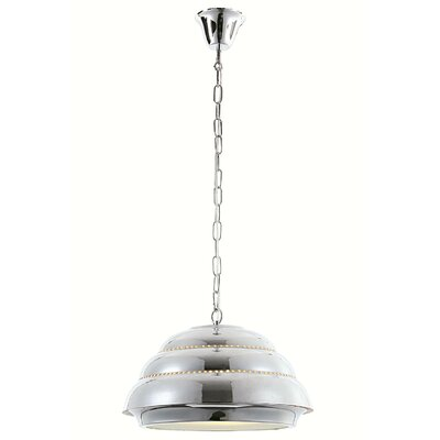 Kennedi 1-Light Bowl Pendant Finish: Antique Brass