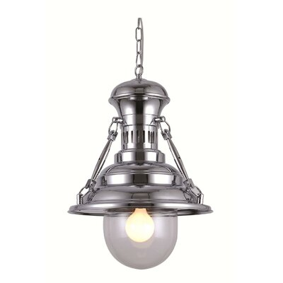 Kyleigh 1-Light Mini Pendant Finish: Chrome