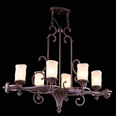 Troy 6-Light Shaded Chandelier