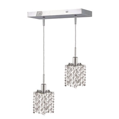 Kruse 36 2-Light Pendant Crystal Color / Crystal Trim: Crystal (Clear) / Royal Cut