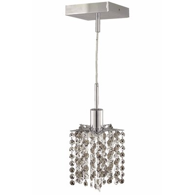 Kruse Contemporary 1-Light Crystal Pendant Crystal Color / Crystal Trim: Crystal (Clear) / Elegant Cut