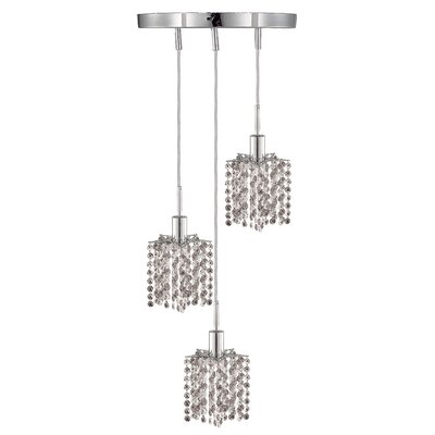 Kruse 3-Light Pendant Crystal Color / Crystal Trim: Crystal (Clear) / Royal Cut