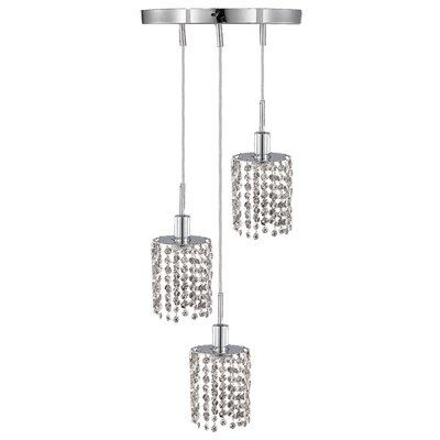 Kruse 3-Light Cluster Pendant Crystal Type: Swarovski Elements