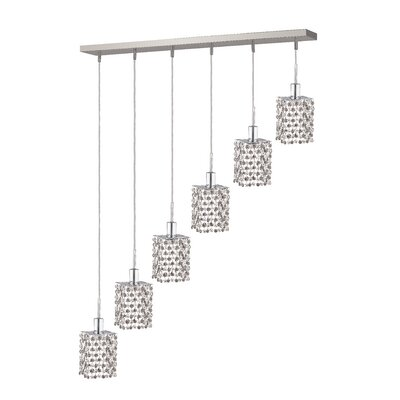 Kruse 6-Light Pendant Crystal Color / Crystal Trim: Crystal (Clear) / Elegant Cut