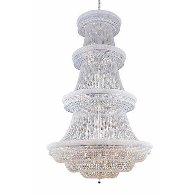 Jessenia 56-Light Chain Crystal Chandelier Finish: Chrome, Crystal Grade: Elegant Cut