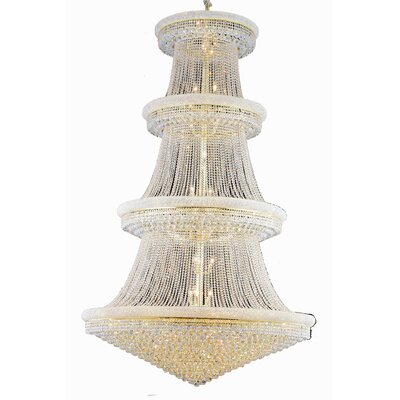 Jessenia 56-Light Crystal Chandelier Crystal Grade: Swarovski Elements, Finish: Gold