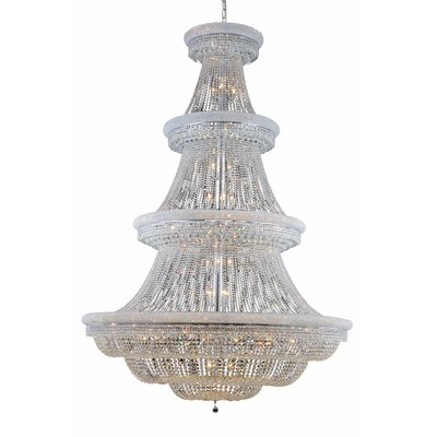 Jessenia 66-Light Crystal Chandelier Finish: Chrome, Crystal Grade: Elegant Cut