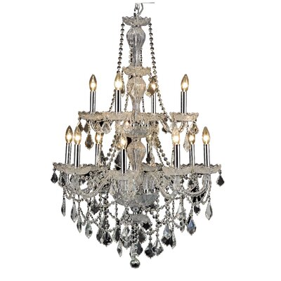 Lesli 12-Light Crystal Chandelier Finish: Chrome
