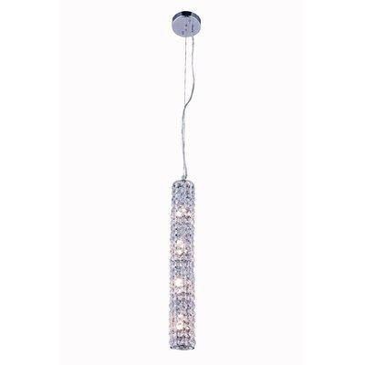 Halfmoon 4-Light Crystal Pendant