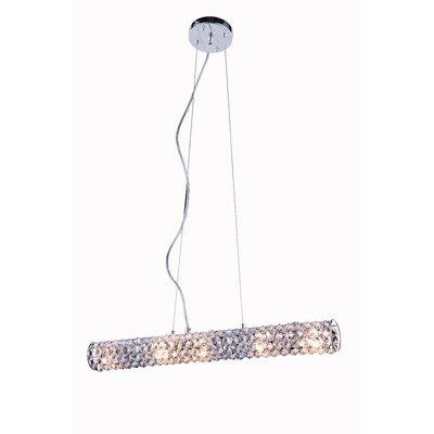 Halfmoon 5-Light Crystal Pendant