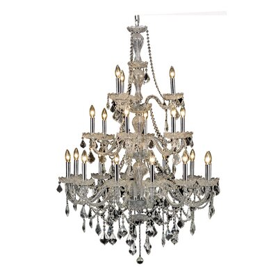 Lesli 21-Light Crystal Chandelier Finish: Chrome