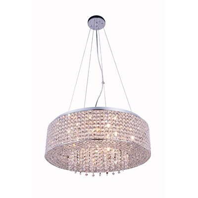 Amelie 10-Light Drum Pendant