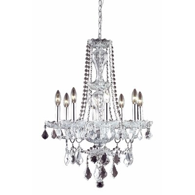 Lesli 8-Light Crystal Chandelier Finish: Chrome