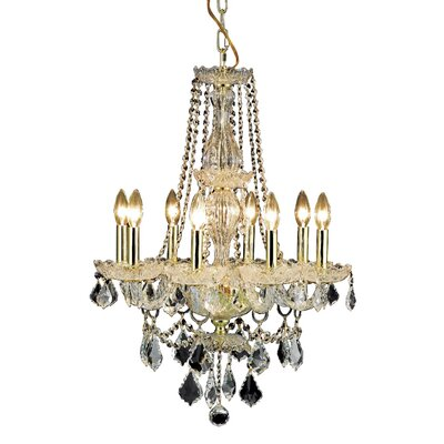 Lesli 8-Light Crystal Chandelier Finish: Gold