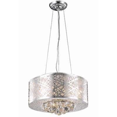 Athema 4-Light Fabric Shade Drum Chandelier