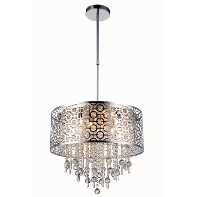 Darchelle Contemporary 6-Light Crystal Pendant