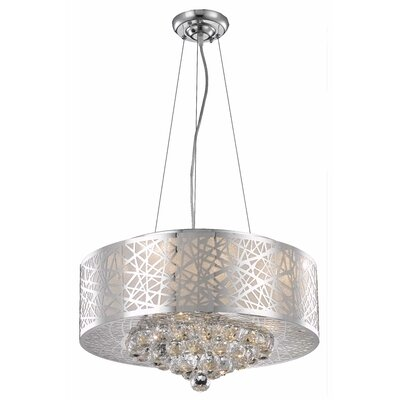 Athema 7-Light Drum Chandelier Size: 10 H x 20 W x 20 D