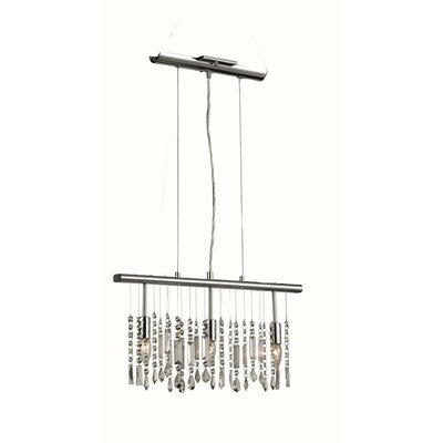Starbuck 3-Light Crystal Shade Kitchen Island Pendant