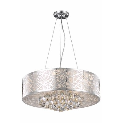 Prism 9-Light Drum Chandelier Size: 11 H x 24 W x 24 D
