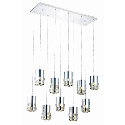 Verline 10-Light Cascade Pendant