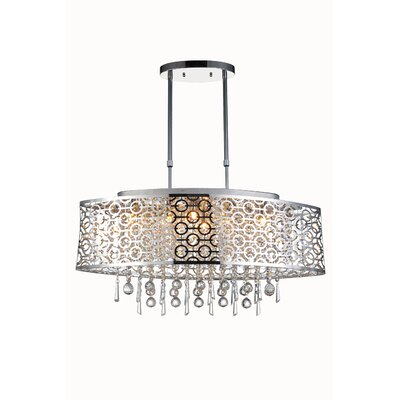 Sterling 6-Light Crystal Pendant