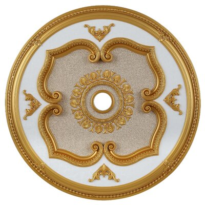 Medallion Ceiling Canopy Finish: Gold