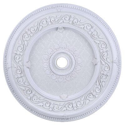 Medallion Ceiling Canopy Finish: White