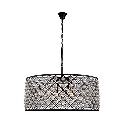 Morion 10-Light Drum Pendant Finish: Polished Nickel