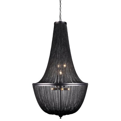 Corundum 10-Light Foyer Pendant Finish: Dark Grey