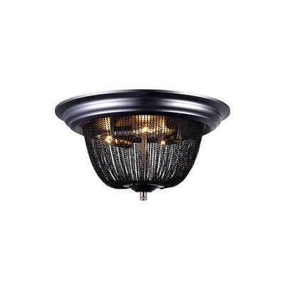 Corundum 3-Light Flush Mount Finish: Dark Grey
