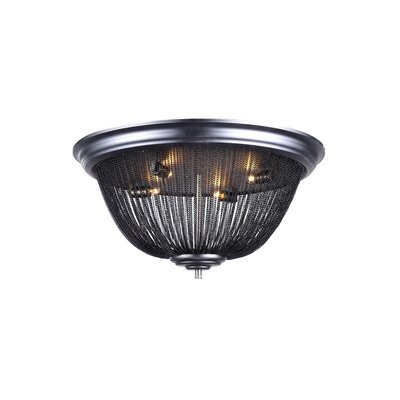 Corundum 4-Light Flush Mount Finish: Dark Grey