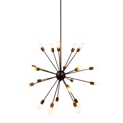 Ashe 20-Light Cluster Pendant Finish: Vintage Steel