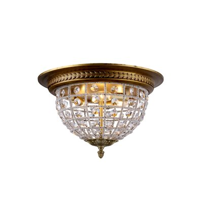 Olivia 3-Light Flush Mount Finish: French Gold