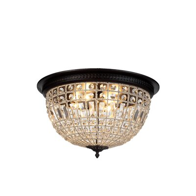 Tilbury 4-Light Flush Mount Color: Dark Bronze
