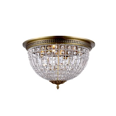 Tilbury 4-Light Flush Mount Color: French Gold
