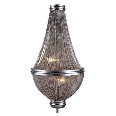 Paloma 3-Light Empire Chandelier Finish: Dark Grey