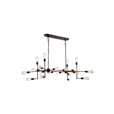 Caracas 20-Light Cluster Pendant Finish: Polished Nickel