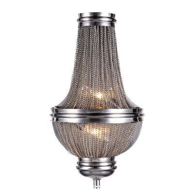 Paloma 2-Light Empire Chandelier Finish: Dark Grey
