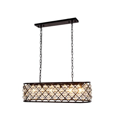 Morion 6-Light Metal Kitchen Island Pendant Finish: Mocha Brown