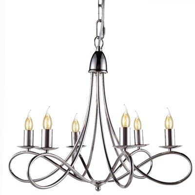 Diaz 6-Light Candle-Style Chandelier Finish: Polished Nickel